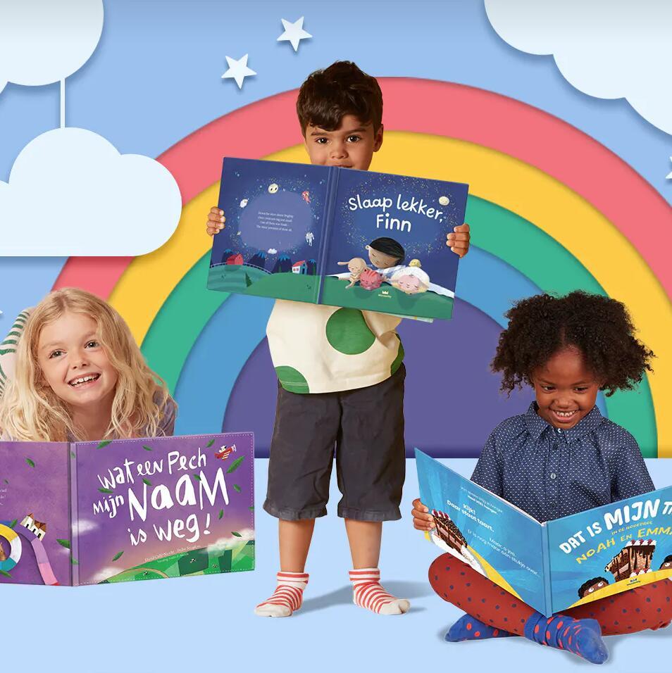 Korting op gepersonaliseerde kinderboeken bij Wonderbly