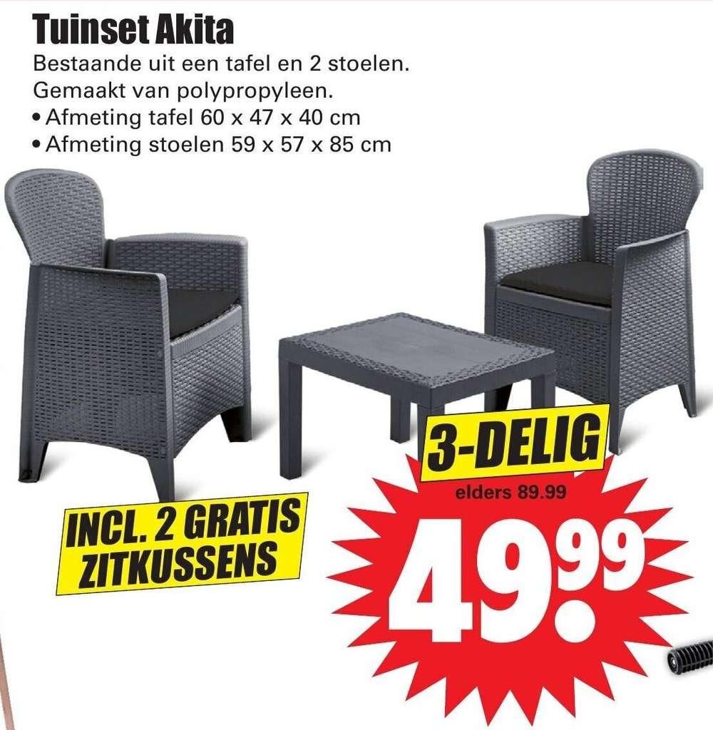Tuinset Akita, Incl. 2 Zitkussens @Dirk