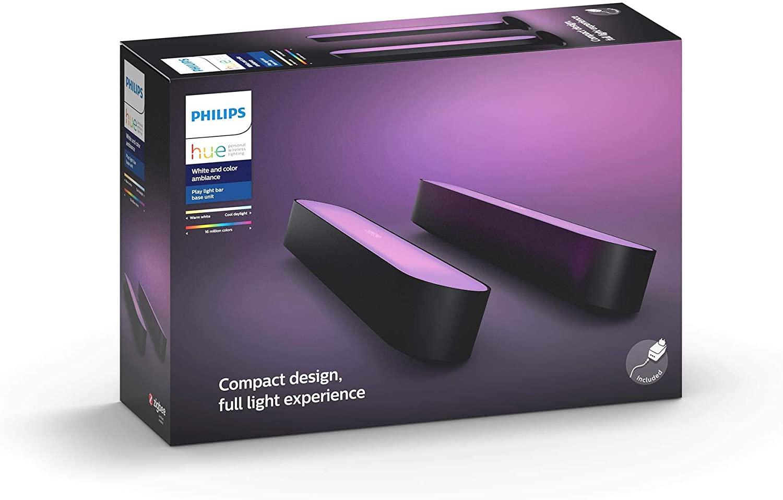 Philips Hue Play - wit en gekleurd licht - zwart - 2-pack - basis