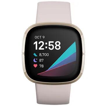 Fitbit Sense Gold/White @Belsimpel Actie: Krijg 6 maanden Fitbit Premium cadeau