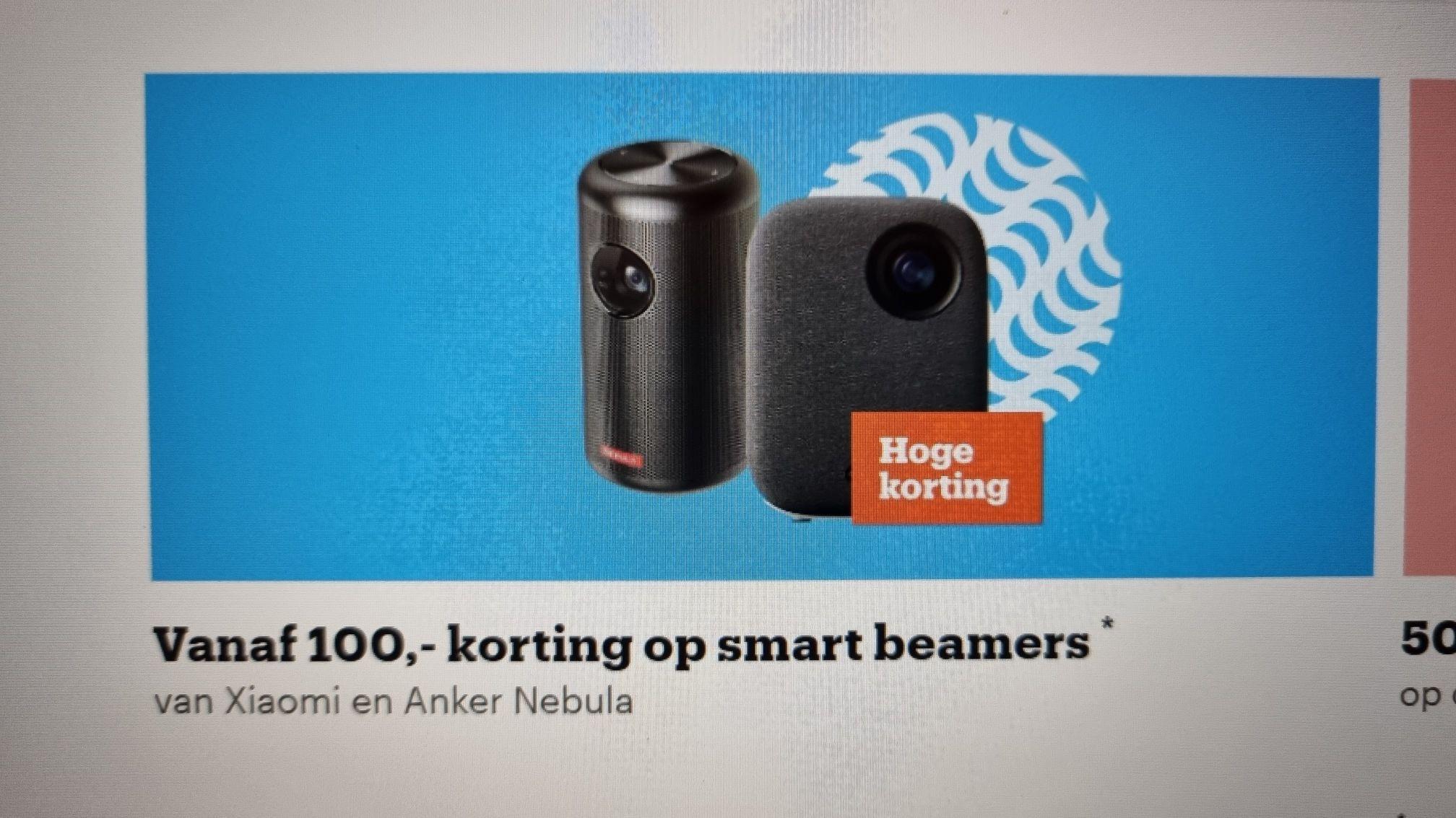 EK ACTIE: Vanaf 100 euro korting op smart beamers@bol