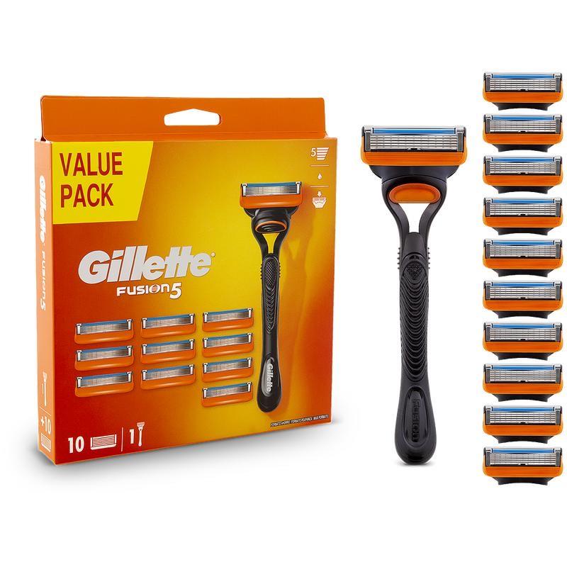 Gillette Fusion 5 scheermes + 10 scheermessen Action