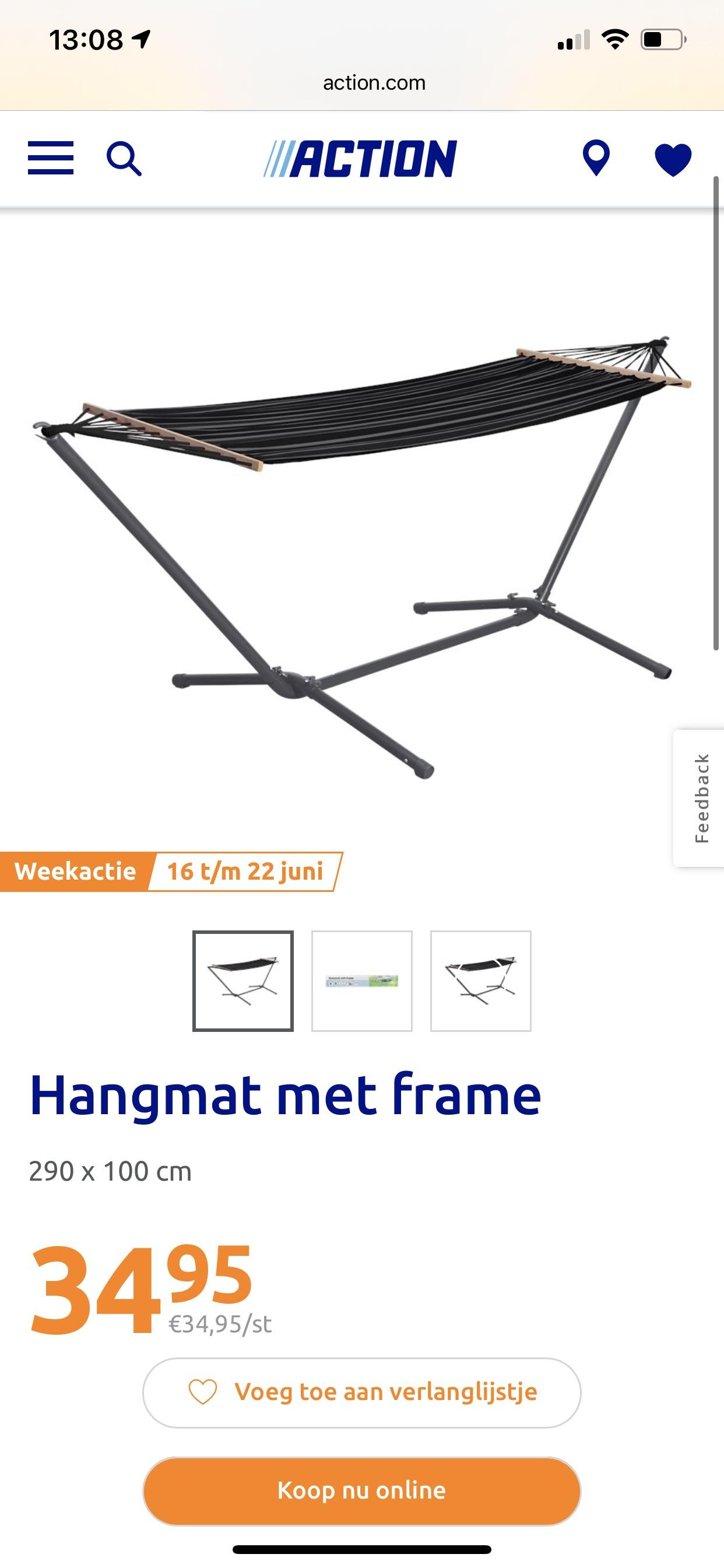 Hangmat met staander €34,95 @Action