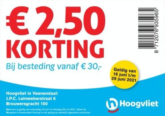 [LOKAAL] € 2,50 korting bij Hoogvliet Veenendaal