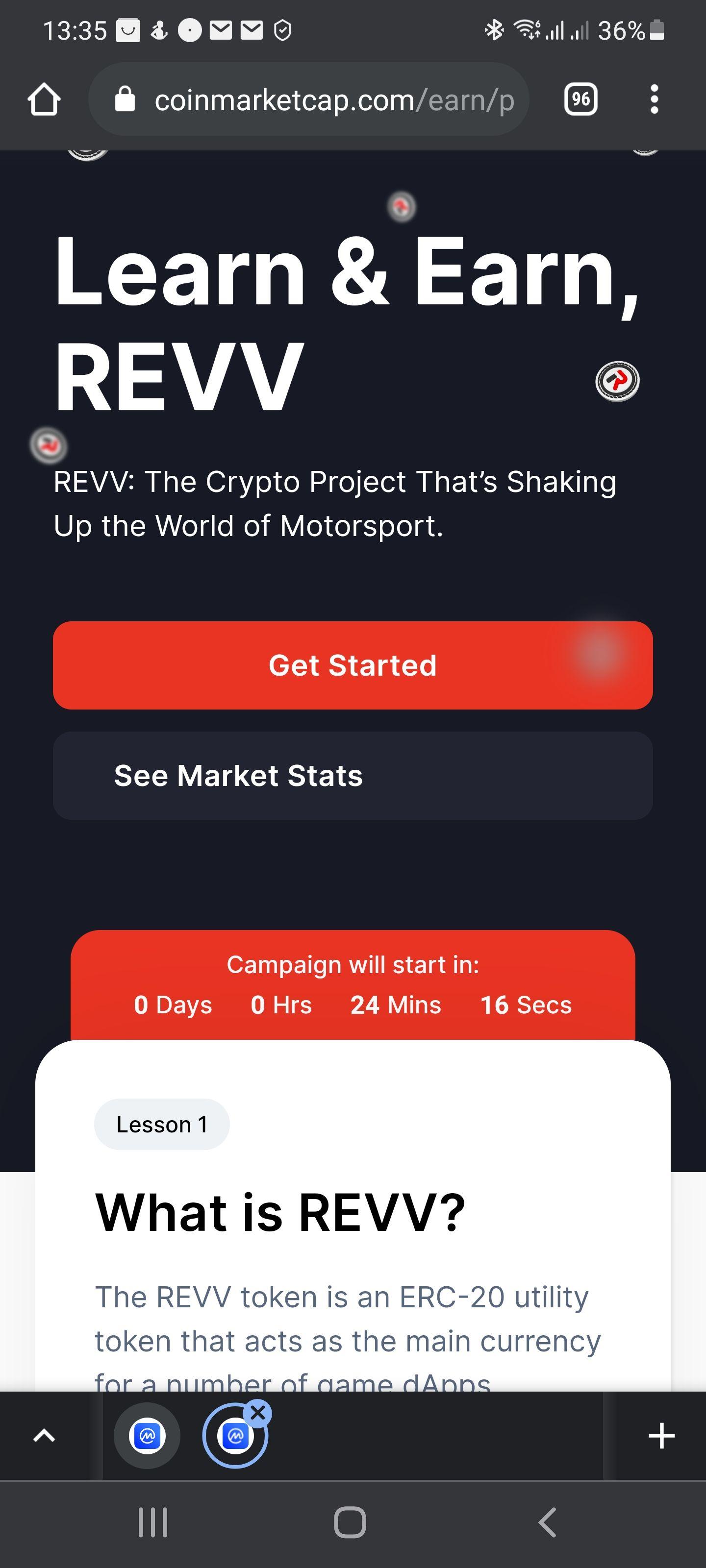 CoinMarketCap : Gratis $5 aan REVV tokens