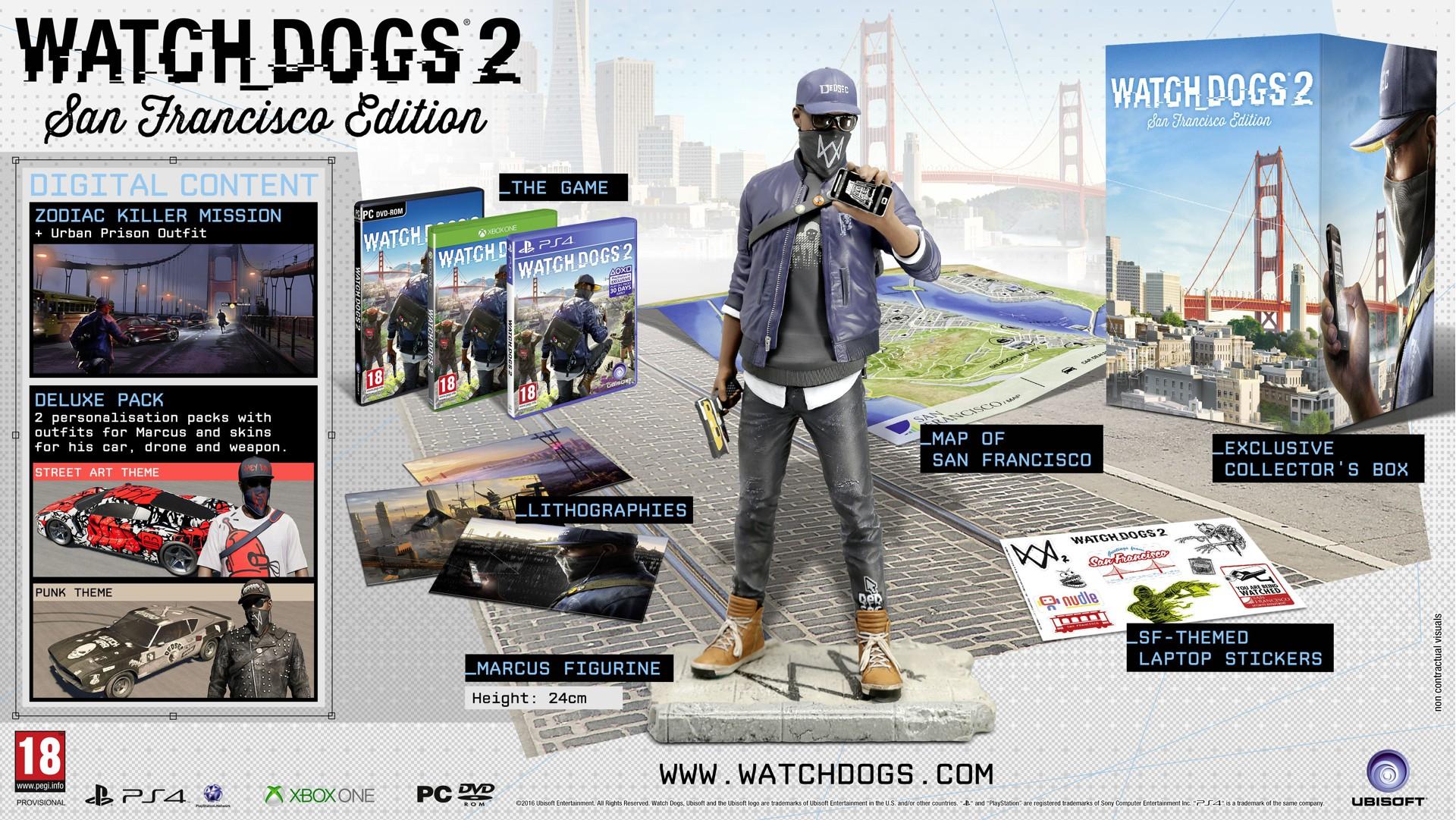 Watch Dogs 2 - San Francisco Edition (Nordic) - PC en evt Xbox tegen meerprijs