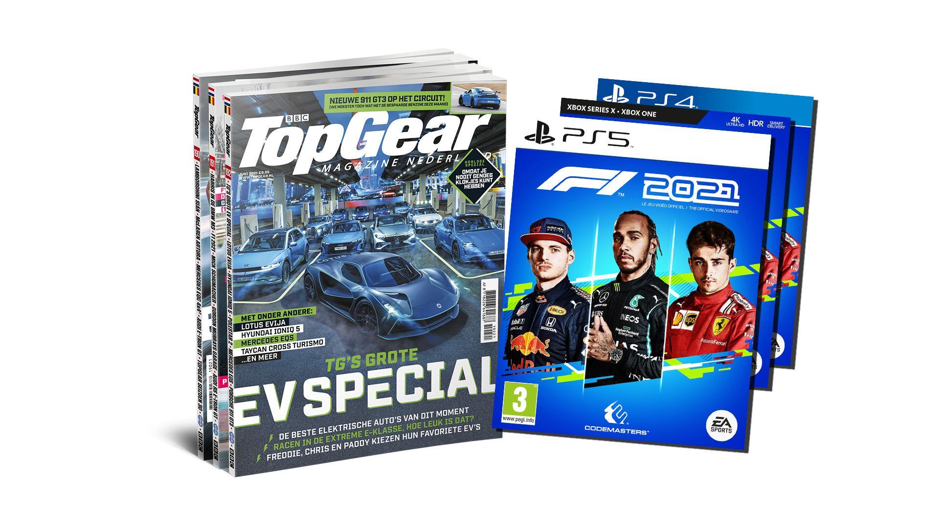 Gratis F1 2021 Voor PS5/PS4/Xbox bij 12 edities TopGear voor € 69