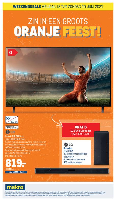 LG UHD OLED 55inch (OLEDA16) met gratis soundbar (LGDSN4)