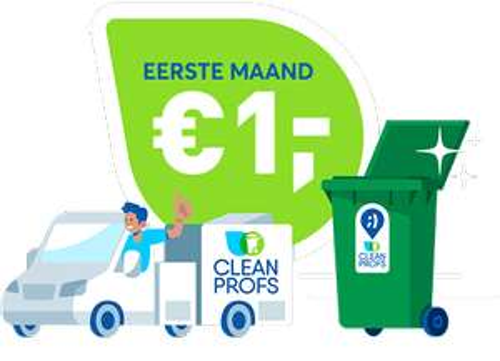 Containerreiniging: eerste maand €1 per container - maandelijks opzegbaar @ Cleanprofs