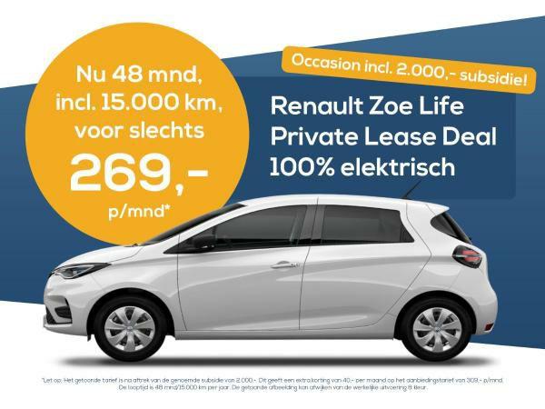 Renault ZOE leasen (inclusief 15.000 km) voor 269
