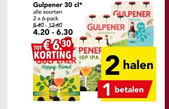 Gulpener 1+1 gratis bij Deen en Poiesz