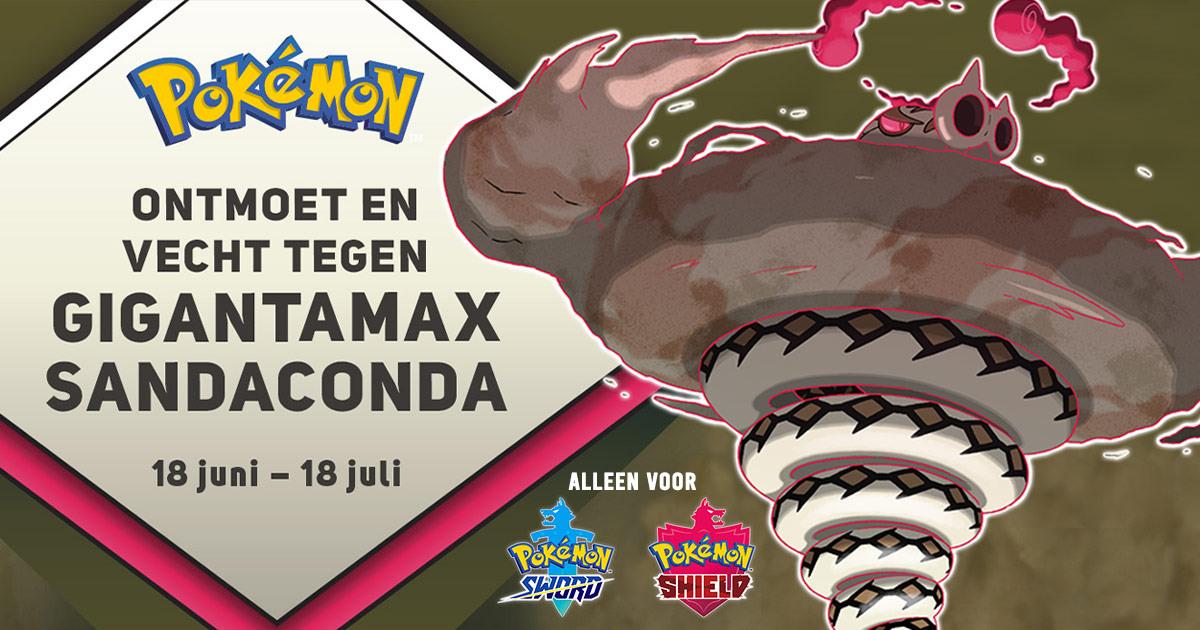 [Gratis] Pokémon Sword/Shield code voor Dynamax Sandaconda @gamemania