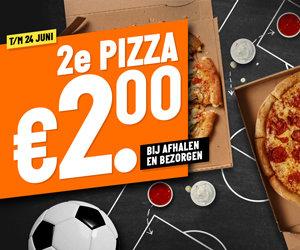 2e medium pizza voor €2 bij afhalen & bezorgen @ Papa John's