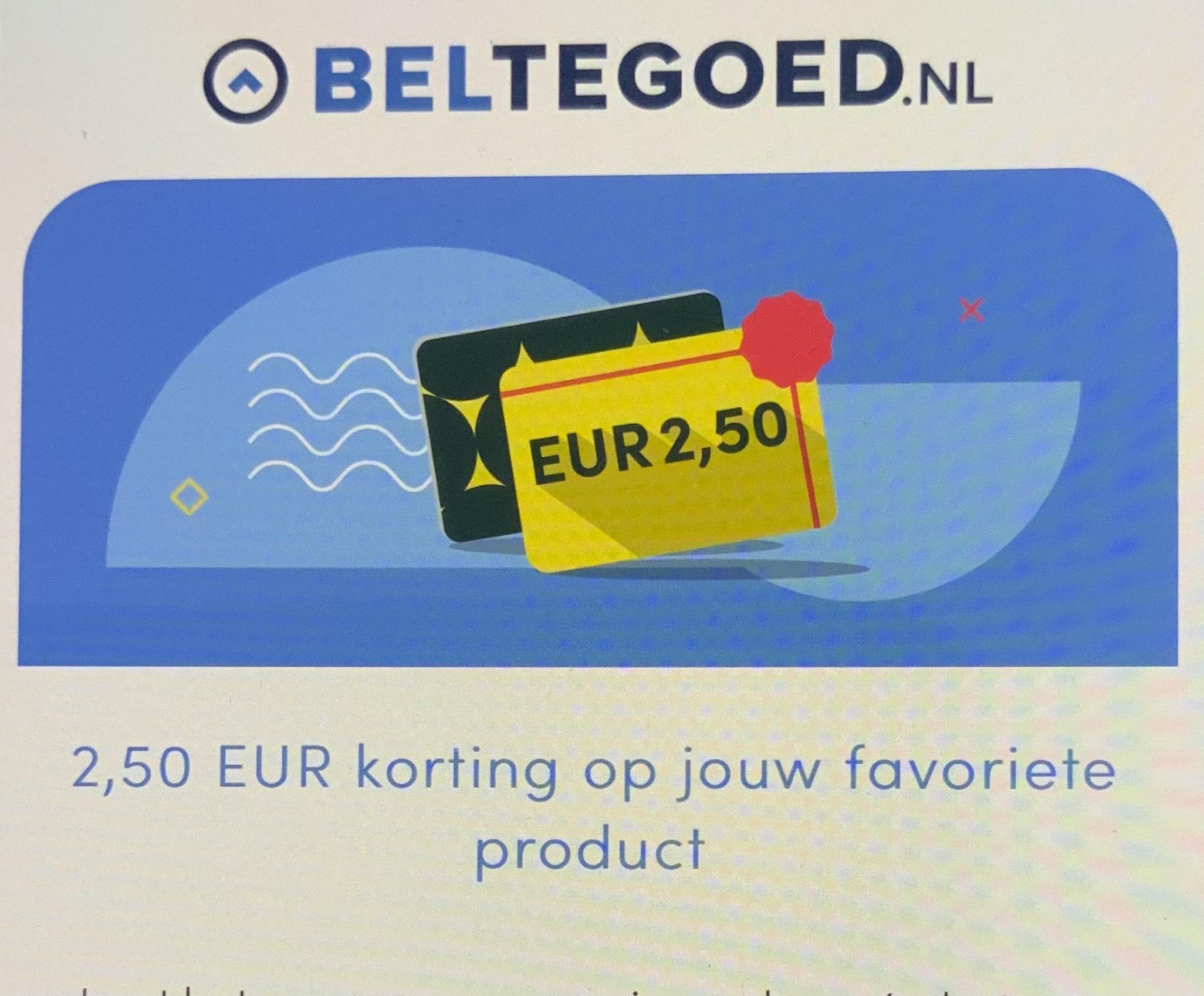 2,50 EUR korting op alles bij beltegoed.nl