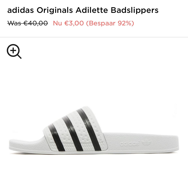 Adilette slippers voor 3,- !!!