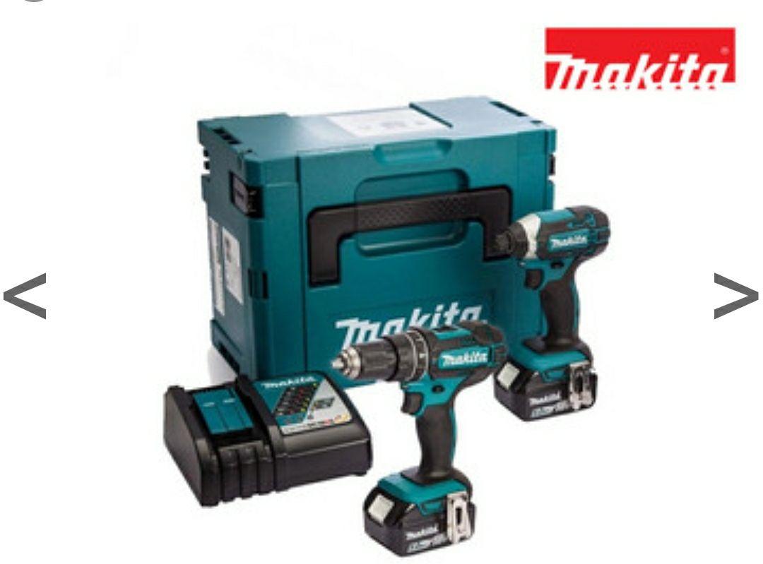 Makita 18 V Combiset | 2x 5.0 Ah Accu
