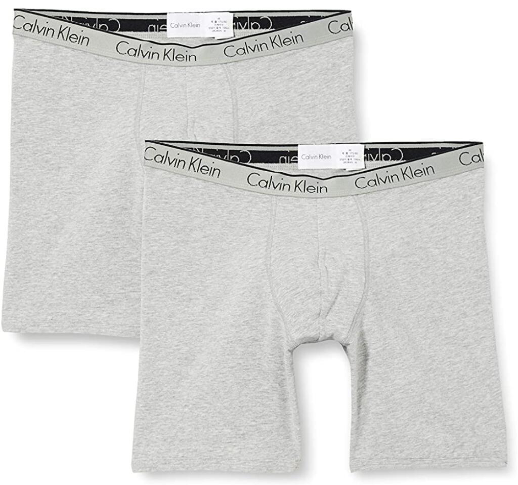 2 pack Calvin Klein Boxer Brief Grey [ Maat S ]
