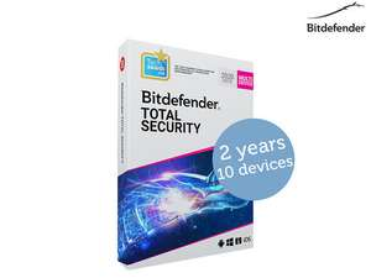 Bitdefender Total Security 2021 | 2 jaar - 10 apparaten