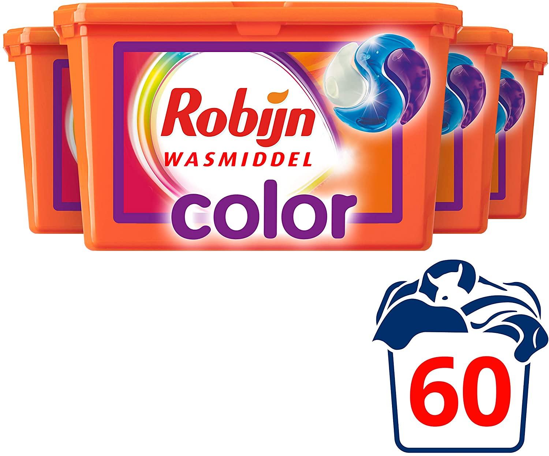 [PRIME] Robijn Color Wasmiddel 3 in 1 Capsules (4*15)