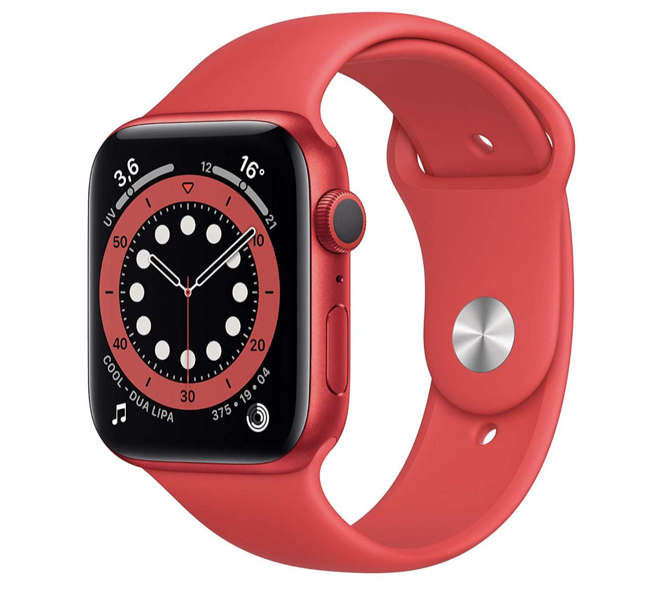 Apple Watch Series 6 (GPS, 44-mm) kast van PRODUCT(RED) aluminium