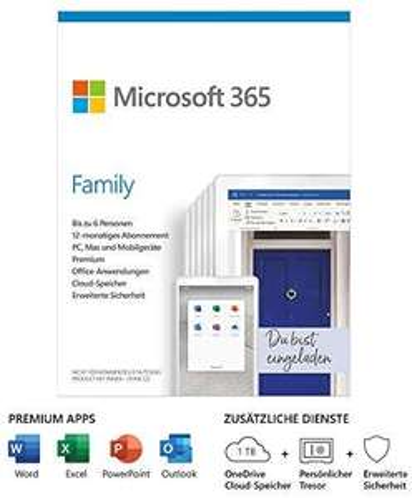 Office 365 Family (6 gebruikers) Duitse Prime