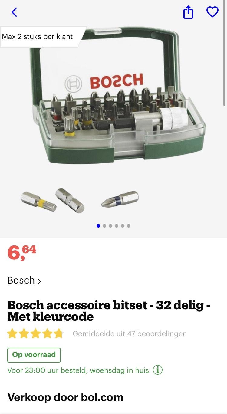 [bol.com] Bosch accessoire bitset - 32 delig - Met kleurcode €6,64