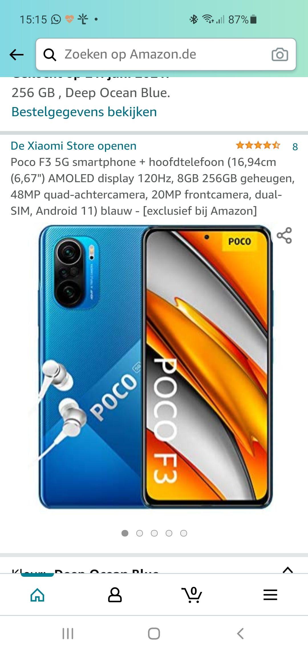 ( prime Day) Poco F3 5G 8/ 258 gb via amazon de