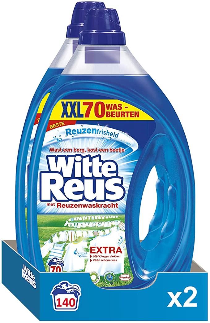 Witte Reus Gel Liquid Detergent, White Wash, 140 (2 x 70) Washings Advantage Pack