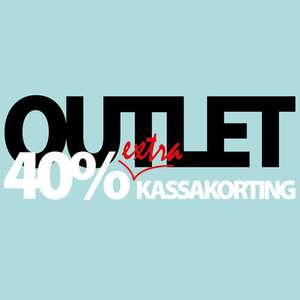 OUTLET 40% extra korting