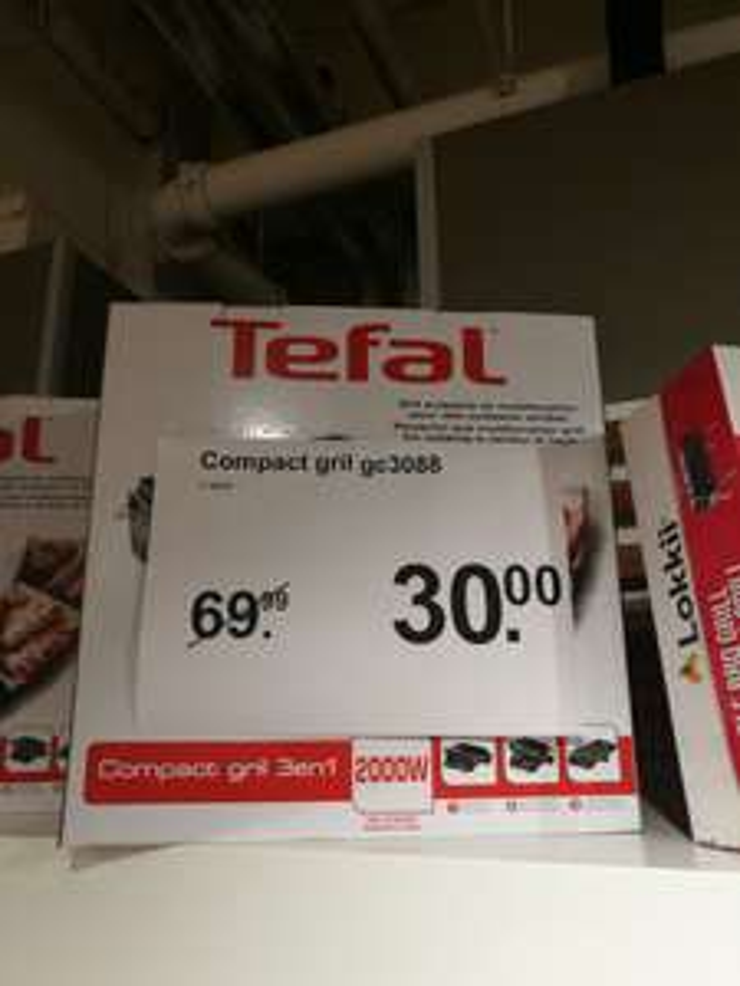 Tefal Compact Grill GC3088 (AH - Neude: Utrecht)