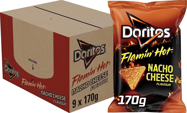 Doritos Flamin Hot Nacho Cheese, Doos 9 Stuks x 170g