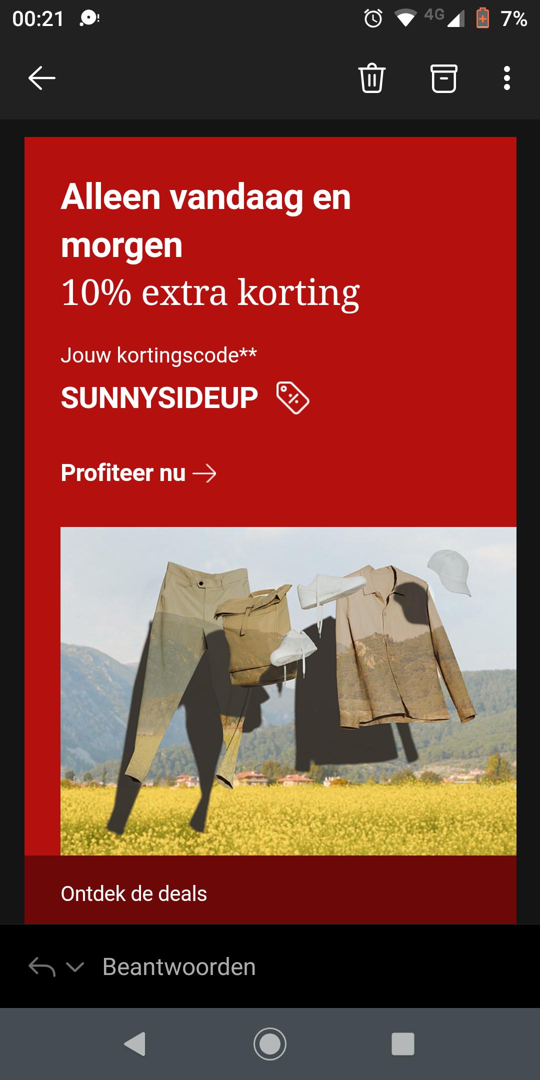 10% extra korting op sale artikelen zalando