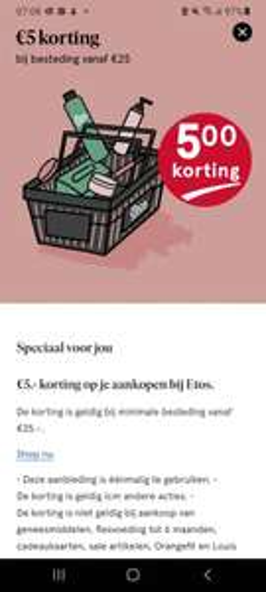 Etos €5 korting bij besteding €25