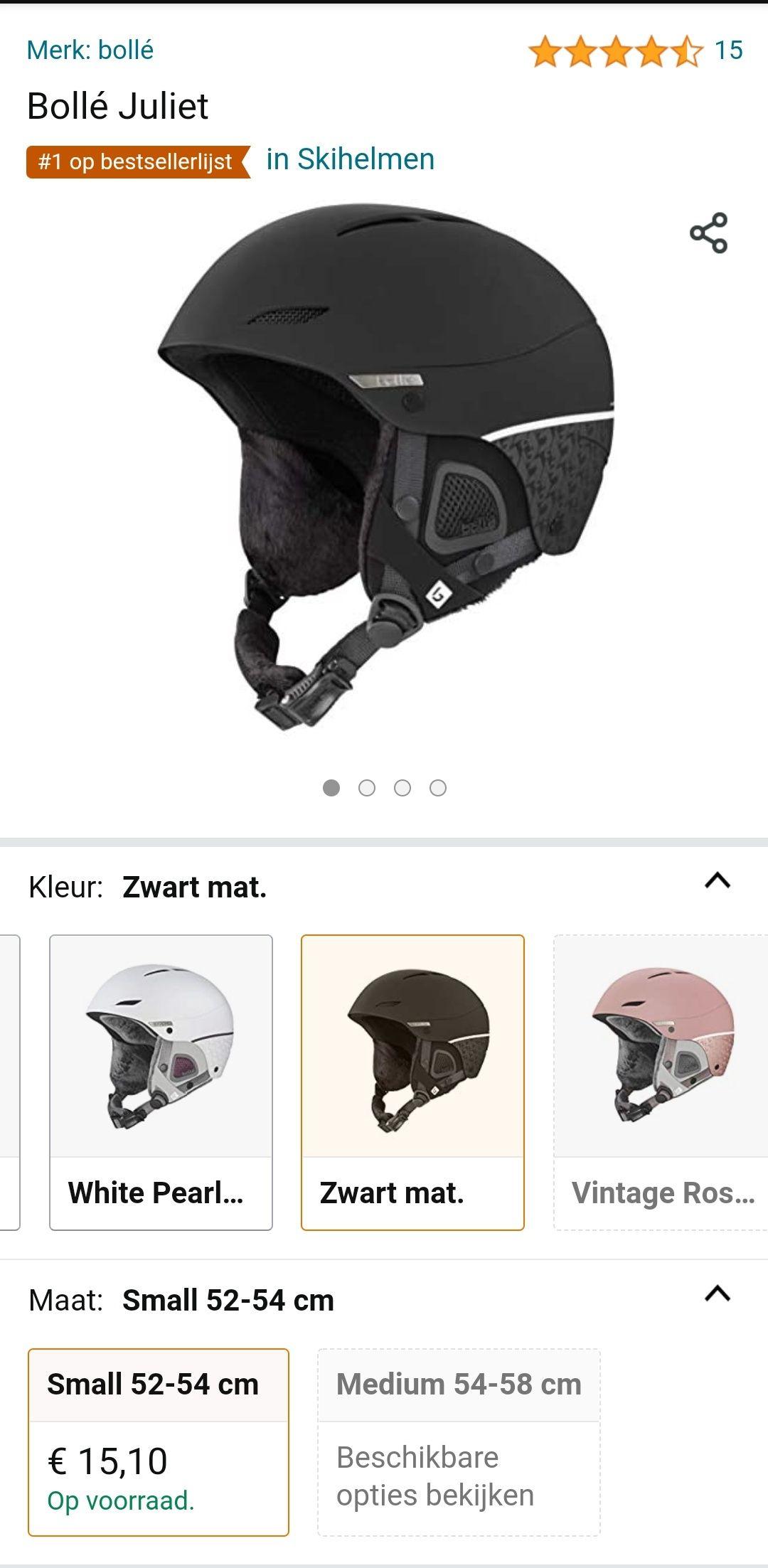 [SUPER DEAL] Bollé Helm zwart small 52-54cm