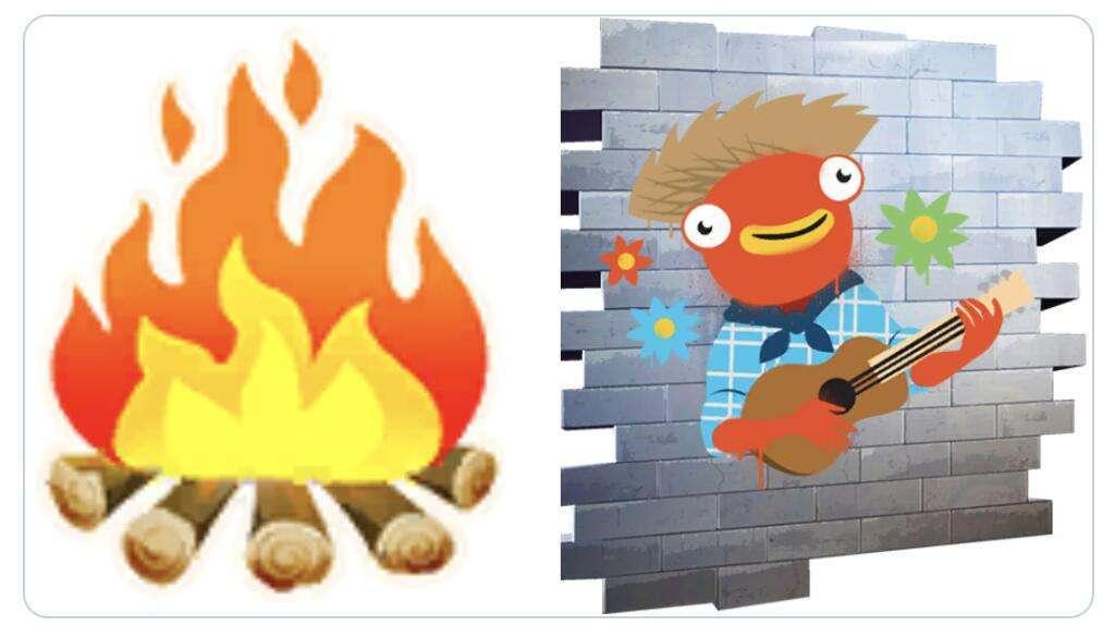 Gratis June Fish Spray & Bonfire emoji voor Fortnite @ Epic Games Store