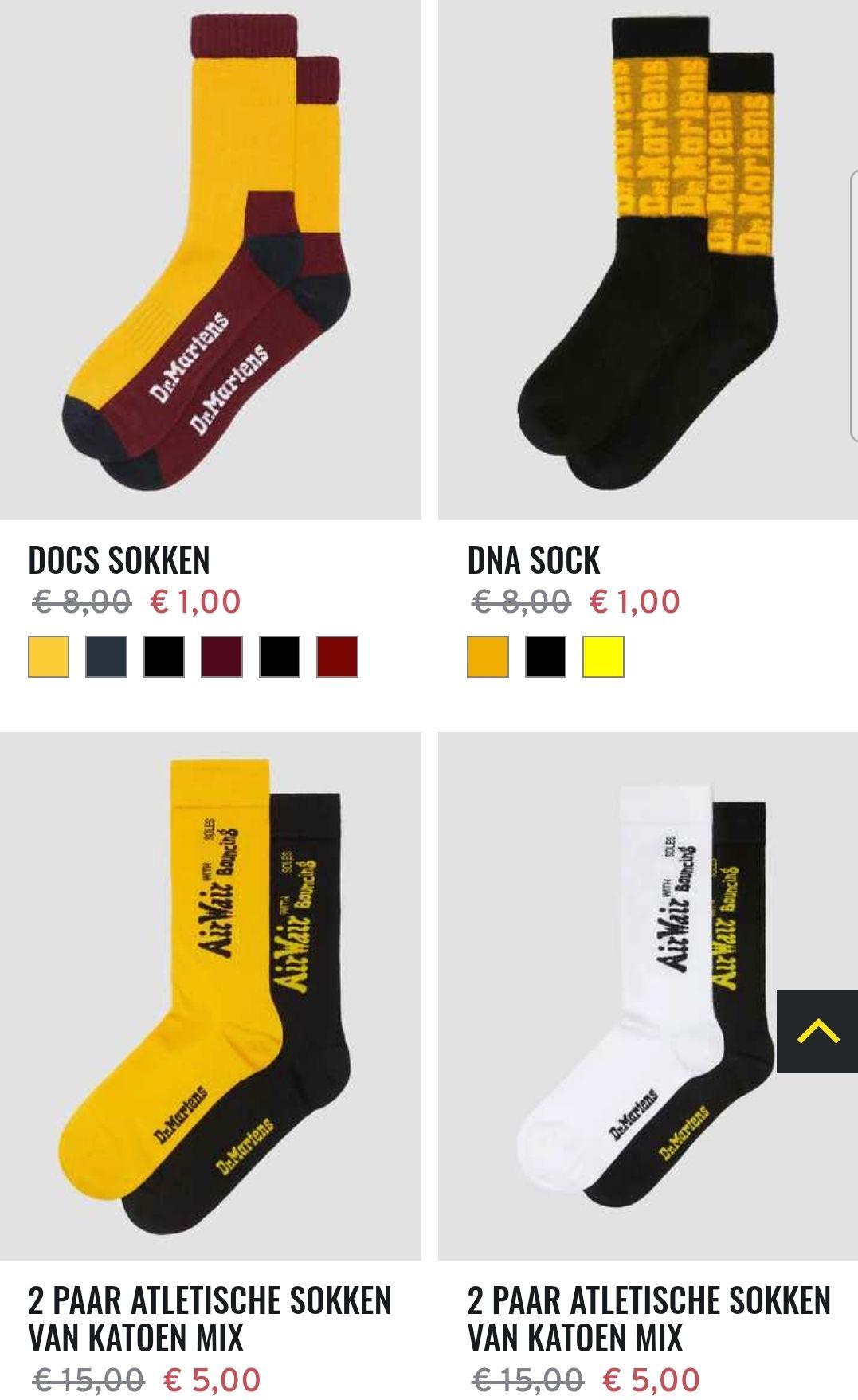 Dr. Martens sokken vanaf 1 euro