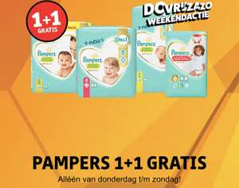 Pampers 1+1 gratis - Kruidvat