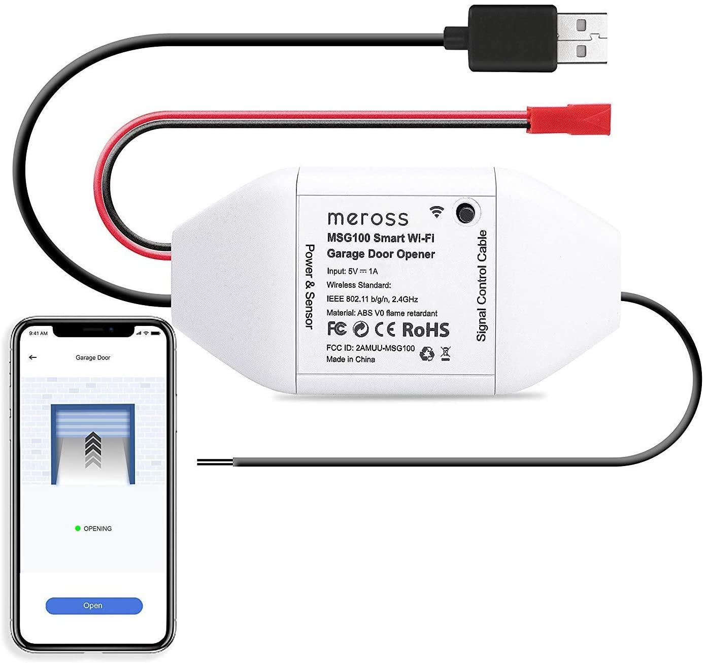 Meross smart WLAN garagedeuropener voor €18,99 door code @ Amazon NL
