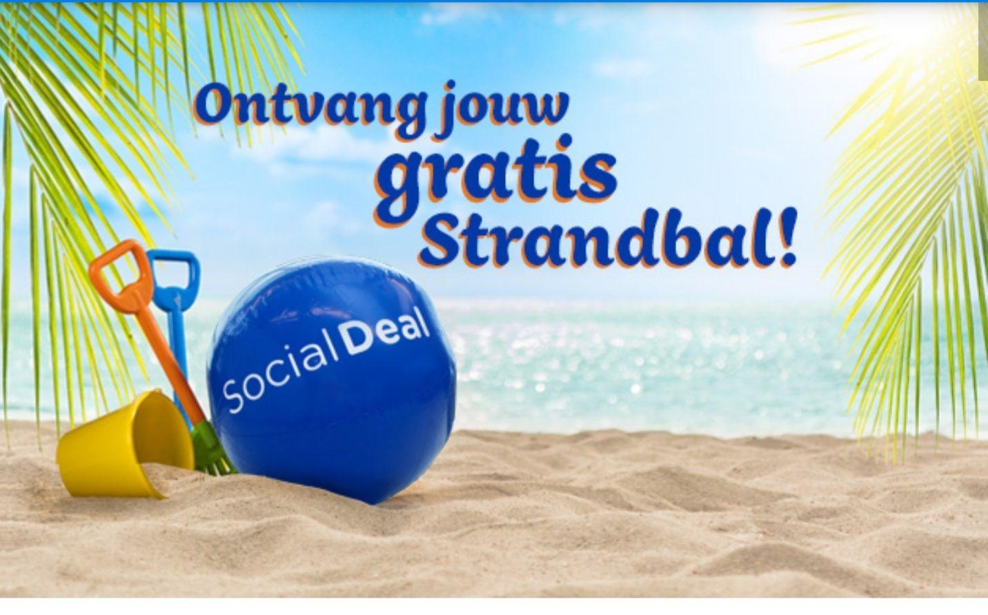 Social Deal gratis strandbal