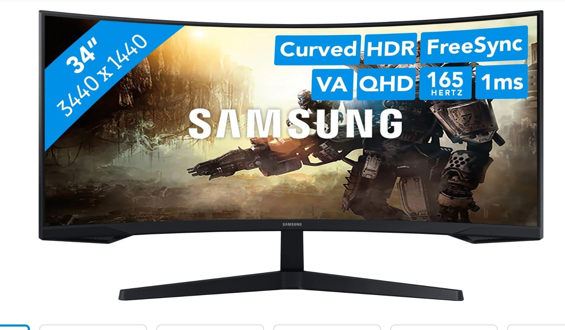 "Samsung Odyssey G5 34"" 165Hz QHD Gaming Monitor"