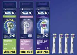 4-pack Oral-B (Cross-Action, Sensitive Clean of 3D White) opzetborstels