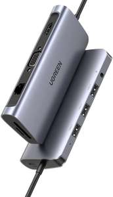 UGREEN USB C 10-in-1 hub (HDMI 4K, USB 3.0, SD, RJ45, 100W PD) voor €39,99 @ Amazon NL