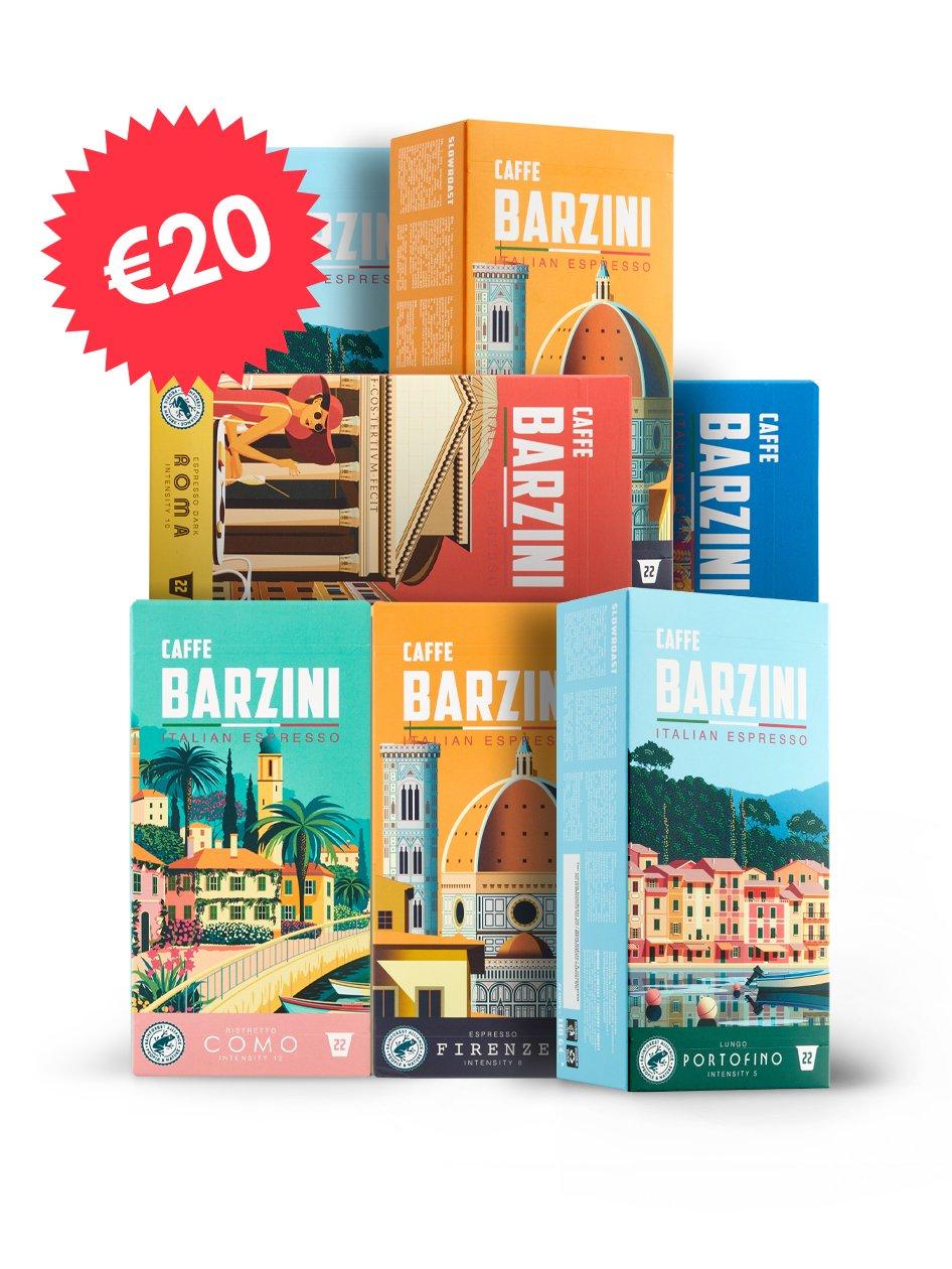 Italian koffie proefpakket (154 capsules) voor €20 + gratis verzending @ CoffeeMeister