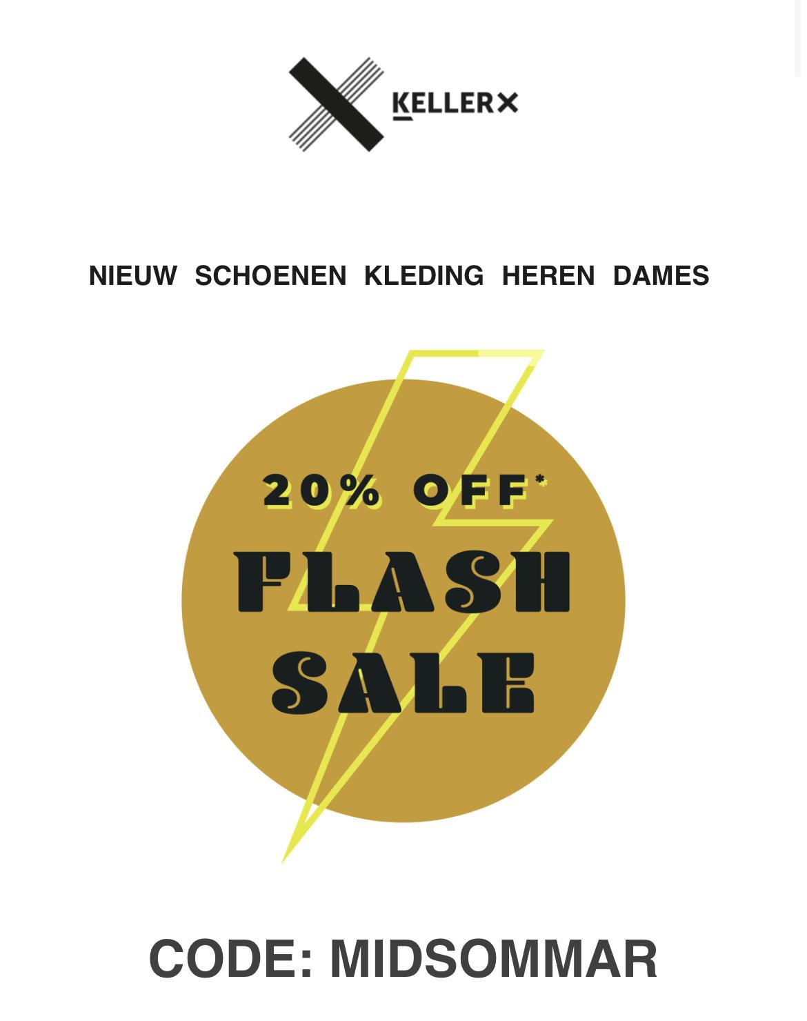 Keller sport 20% kortingscode