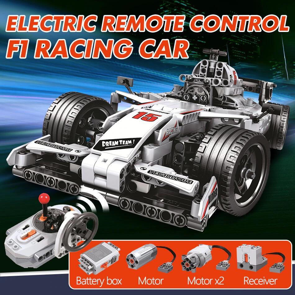Aliexpress: ERBO F1 raceauto remote control (729x bricks) voor 29,93 eur. -26%.