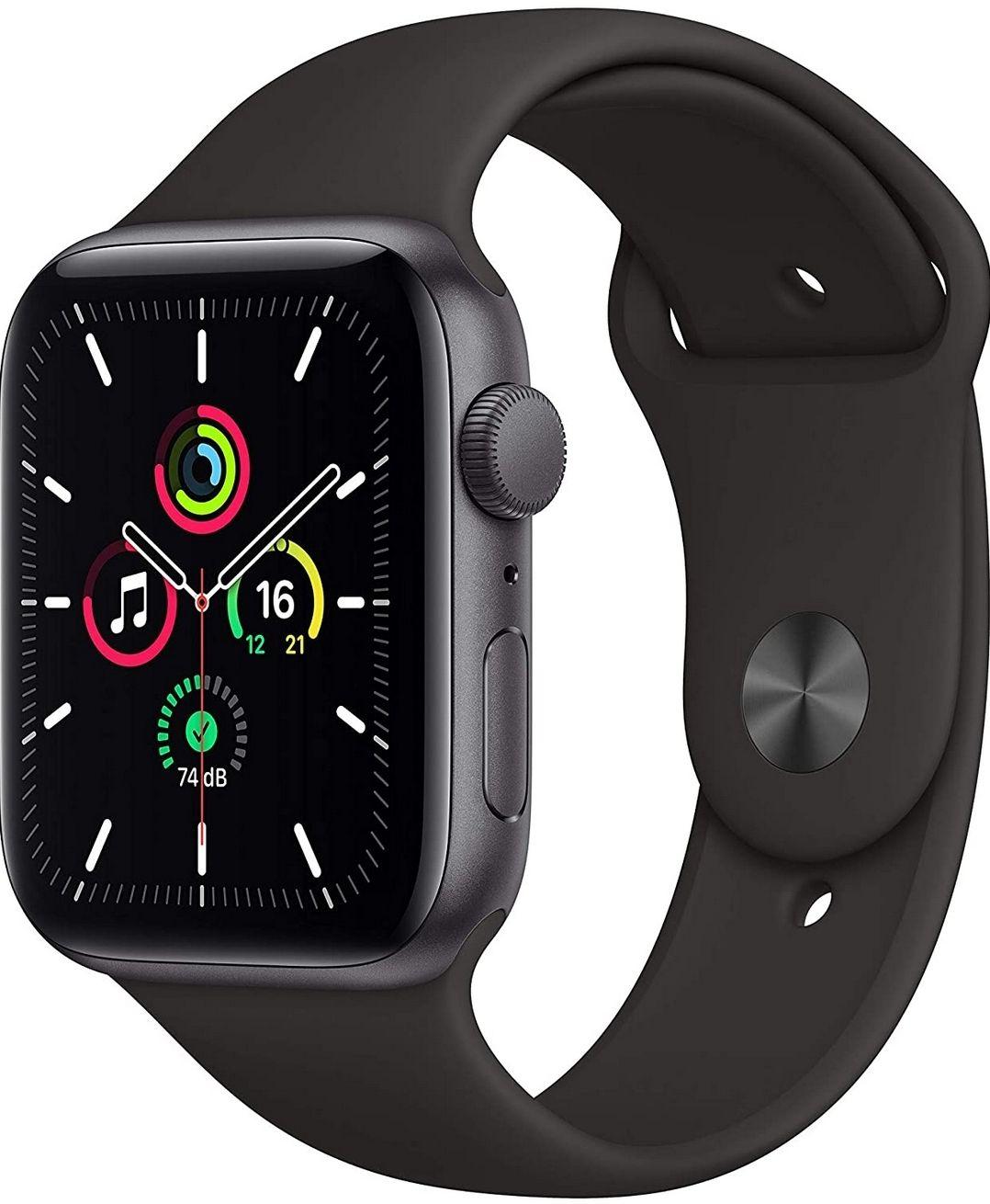 Apple Watch SE 44MM Zwart/wit/roze