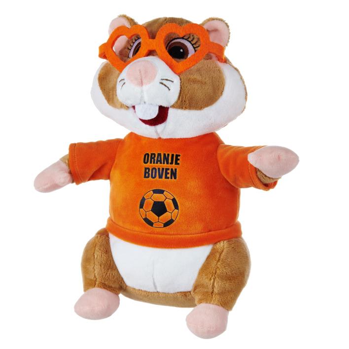 Vanaf maandag: 50% Op=Op korting op de AH EK oranje Hamster knuffel