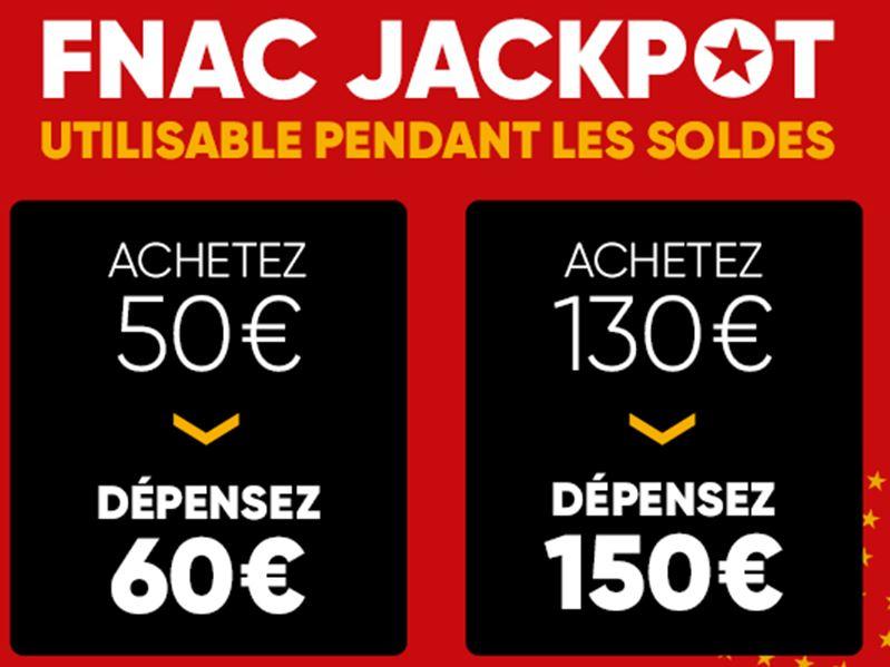 FNAC Jackpot cards weer beschikbaar €130=€150 en €50=€60