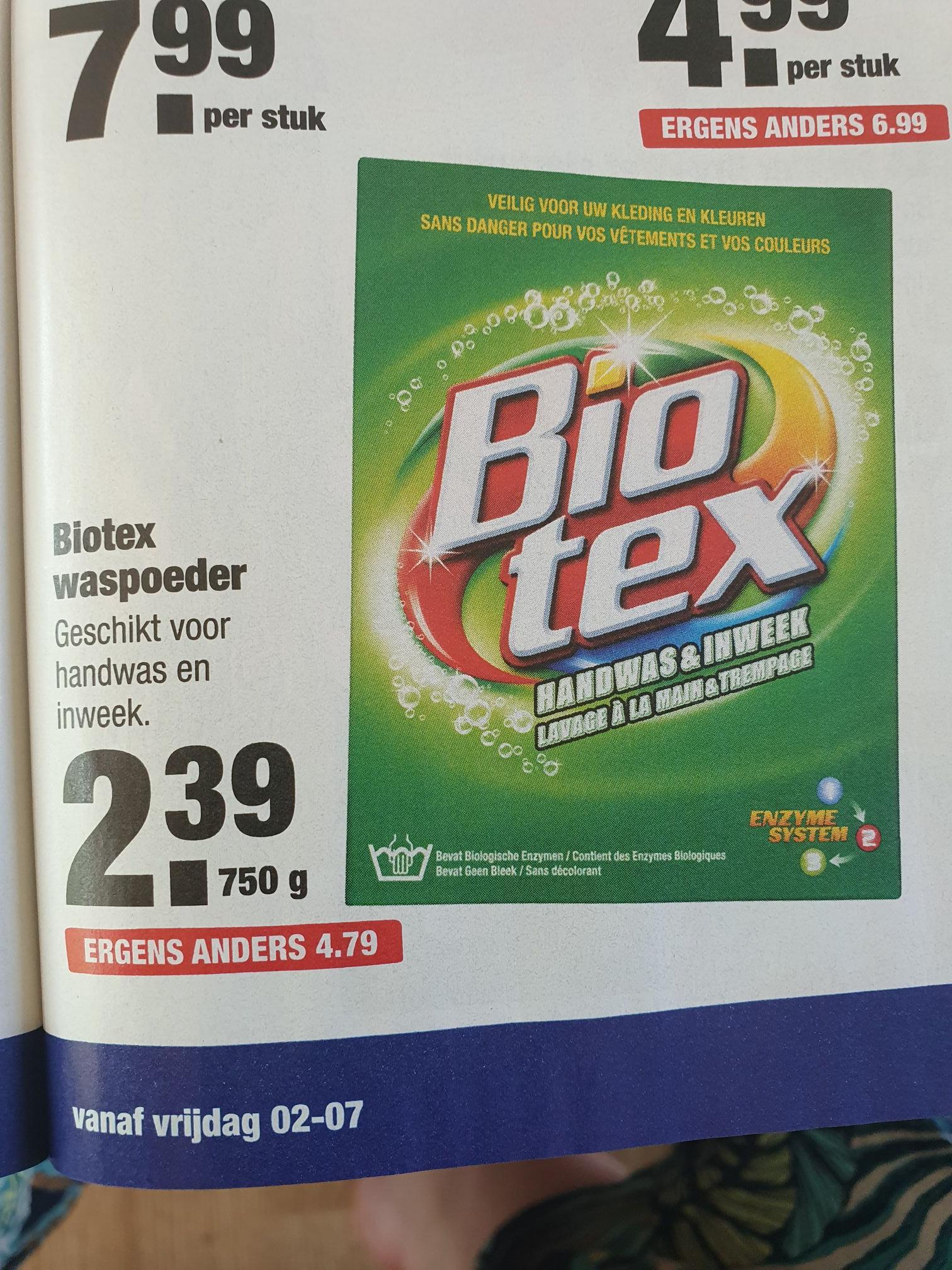 Biotex 2.39 bij de Aldi