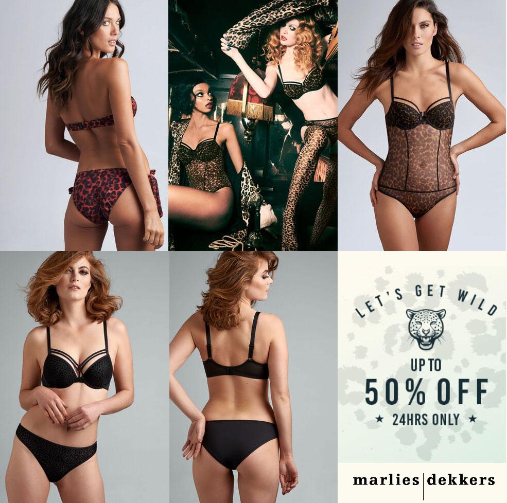 Animalprints: lingerie / badmode 40-50% korting + gratis verzending